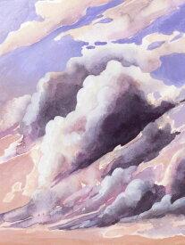 雲 空 絵画 ピンクの壁紙 輸入 カスタム壁紙 PHOTOWALL / Amethyst Cumulus (e321397) 貼ってはがせるフリース壁紙(不織布) 【海外取り寄せのため1カ月程度でお届け】 【代引き不可】