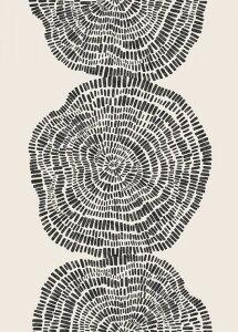 抽象画 モダン 黒 ブラックの壁紙 輸入 カスタム壁紙 PHOTOWALL / Tree Section (e325565) 貼ってはがせるフリース壁紙(不織布) 【海外取り寄せのため1カ月程度でお届け】 【代引き不可】