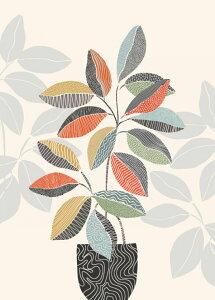 イラスト 植物 植木鉢 カラフルの壁紙 輸入 カスタム壁紙 PHOTOWALL / Vase III (e325569) 貼ってはがせるフリース壁紙(不織布) 【海外取り寄せのため1カ月程度でお届け】 【代引き不可】