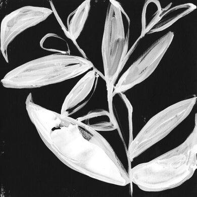 植物 葉 イラスト 黒 ブラック 白 ホワイト モノクロ モノトーンの壁紙  輸入 カスタム壁紙 PHOTOWALL / Quirky White Leaves (e324610) 貼ってはがせるフリース壁紙(不織布) 【海外取り寄せのため1カ月程度でお届け】 【代引き・後払い不可】