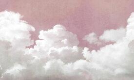 空 雲 ピンクの壁紙 輸入 カスタム壁紙 PHOTOWALL / Fluffy Sky - Pink (e328122) 貼ってはがせるフリース壁紙(不織布) 【海外取り寄せのため1カ月程度でお届け】 【代引き不可】