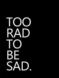 タイポグラフィー アルファベット 黒 ブラック モノトーンの壁紙 輸入 カスタム壁紙 PHOTOWALL / Too Rad to be Sad (e323564) 貼ってはがせるフリース壁紙(不織布) 【海外取り寄せのため1カ月程度でお届け】 【代引き不可】