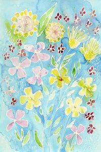 花 イラスト カラフルの壁紙 輸入 カスタム壁紙 PHOTOWALL / Snappy Floral II (e327244) 貼ってはがせるフリース壁紙(不織布) 【海外取り寄せのため1カ月程度でお届け】 【代引き・後払い不可】