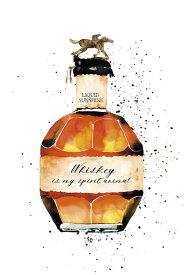 ウイスキー ボトル 水彩画 イラストの壁紙 輸入 カスタム壁紙 PHOTOWALL / Whiskey is My Spirit Animal (e328237) 貼ってはがせるフリース壁紙(不織布) 【海外取り寄せのため1カ月程度でお届け】 【代引き・後払い不可】
