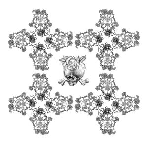 バラ 花 クモ クモの巣の壁紙 輸入 カスタム壁紙 PHOTOWALL / Alchemy England - Rose Skull (e330032) 貼ってはがせるフリース壁紙(不織布) 【海外取り寄せのため1カ月程度でお届け】 【代引き・後払い不