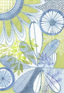 花 イラスト 青 ブルーの壁紙 輸入 カスタム壁紙 PHOTOWALL / Black Botany XXII (e330122) 貼ってはがせるフリース壁紙(不織布) 【海外取り寄せのため1カ月程度でお届け】 【代引き・後払い不可】