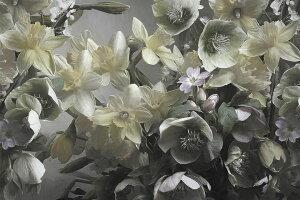 花 白 ホワイト 写真の壁紙 輸入 カスタム壁紙 PHOTOWALL / Narcisus (e330286) 貼ってはがせるフリース壁紙(不織布) 【海外取り寄せのため1カ月程度でお届け】 【代引き・後払い不可】