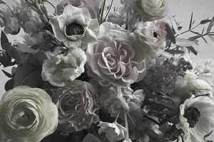 花 写真 灰色 グレーの壁紙 輸入 カスタム壁紙 PHOTOWALL / Ranuncullus (e330473) 貼ってはがせるフリース壁紙(不織布) 【海外取り寄せのため1カ月程度でお届け】 【代引き・後払い不可】