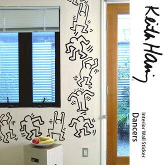 剥开贴在墙上 [BLIK 墙贴 (砖) 的舞者 (舞蹈演员)-黑色轮廓] 环基思机座基思机座基思