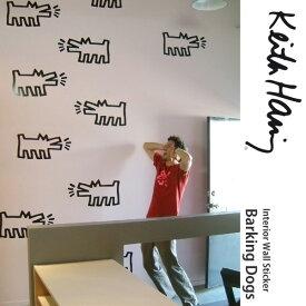 【在庫限り】 【あす楽】 壁に貼ってはがせるステッカー キースへリング Keith Haring [ウォールステッカー BLIK(ブリック) Barking Dogs(吠える犬)-ブラック(アウトライン)] 壁紙屋本舗
