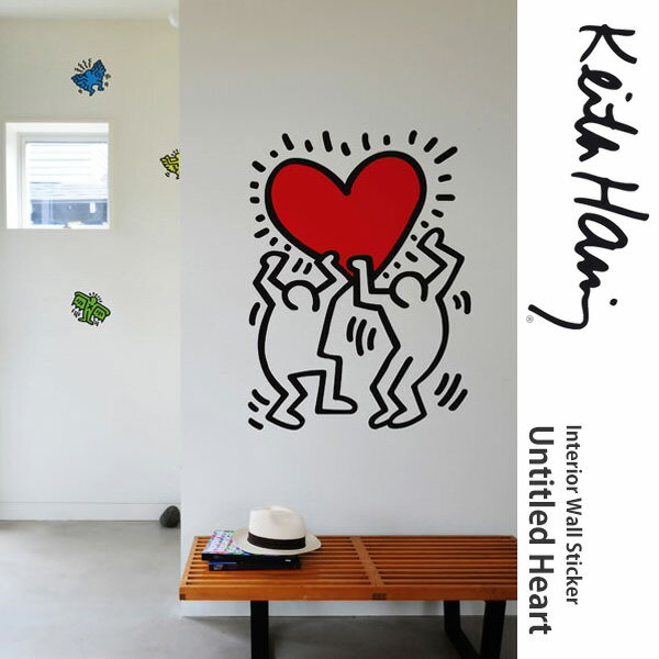 Peel Off Sticker On The Wall [BLIK Wall Stickers (brick) Untitled Heart  Untitled  Black/Red] Ring Keith Haring Keith Haring Keith Part 55