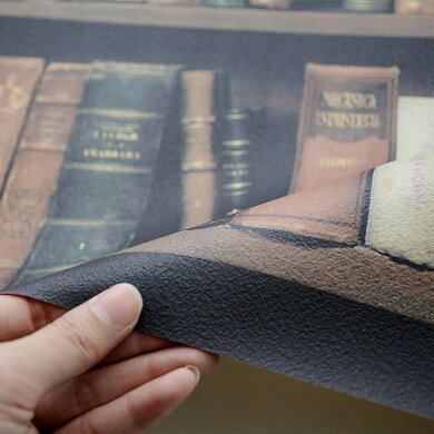 壁紙のり付クロスフェイク本棚柄[国産壁紙(のりなしタイプ)/サンゲツSG-5946(販売単位1m)]【10m以上送料無料】※法人名義の領収書も発行