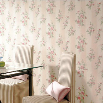 Wallpaper & cross-floral elegance floral design [Japan wallpaper (norinashitaipu) / sangetsu FE-4066 (1 m units sold)] * corporation name receipt issued
