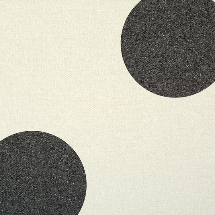 【 壁紙 のり付き 】生のり付き 壁紙 (クロス)(販売単位1m)大きめドット柄の壁紙 チャコールグレー SBB-8851