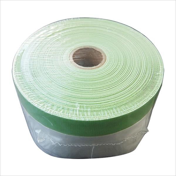 養生 マスカ—テープ 布マスカー テープ付き養生シート 1100mm×25m 1巻