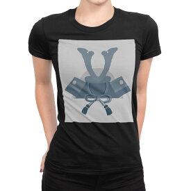 tシャツ レディース 半袖 ブラック 黒 デザイン S M L XL Tシャツ ティーシャツ T shirt 017650 子供の日 兜 端午の節句 カブト