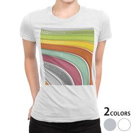 tシャツ レディース 半袖 白地 デザイン S M L XL Tシャツ ティーシャツ T shirt 000539 星 ウエーブ