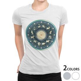 tシャツ レディース 半袖 白地 デザイン S M L XL Tシャツ ティーシャツ T shirt 002666 星座 数字