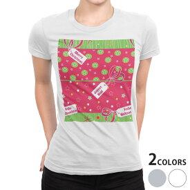tシャツ レディース 半袖 白地 デザイン S M L XL Tシャツ ティーシャツ T shirt 004671 クリスマス 星