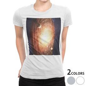 tシャツ レディース 半袖 白地 デザイン S M L XL Tシャツ ティーシャツ T shirt 004912 宇宙 惑星 写真