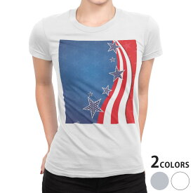 tシャツ レディース 半袖 白地 デザイン S M L XL Tシャツ ティーシャツ T shirt 006583 星 スター