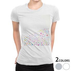tシャツ レディース 半袖 白地 デザイン S M L XL Tシャツ ティーシャツ T shirt 006652 星 音符