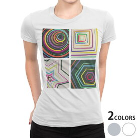 tシャツ レディース 半袖 白地 デザイン S M L XL Tシャツ ティーシャツ T shirt 006887 レインボー 星