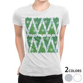 tシャツ レディース 半袖 白地 デザイン S M L XL Tシャツ ティーシャツ T shirt 008546 雪 結晶 冬 植物 星 スター