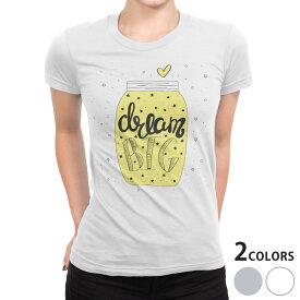 tシャツ レディース 半袖 白地 デザイン S M L XL Tシャツ ティーシャツ T shirt 010565 英語 ハート 星