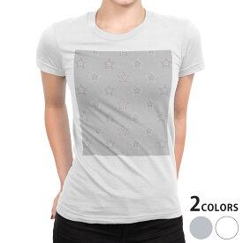 tシャツ レディース 半袖 白地 デザイン S M L XL Tシャツ ティーシャツ T shirt 010591 星 シンプル グレー