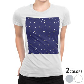 tシャツ レディース 半袖 白地 デザイン S M L XL Tシャツ ティーシャツ T shirt 012626 星 空 夜空