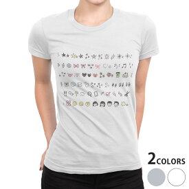 tシャツ レディース 半袖 白地 デザイン S M L XL Tシャツ ティーシャツ T shirt 015624 アイコン かわいい 星