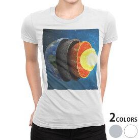 tシャツ レディース 半袖 白地 デザイン S M L XL Tシャツ ティーシャツ T shirt 015910 太陽系 宇宙 惑星