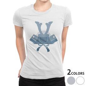 tシャツ レディース 半袖 白地 デザイン S M L XL Tシャツ ティーシャツ T shirt 017650 子供の日 兜 端午の節句 カブト