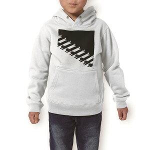 パーカー キッズ ホワイト グレー ブラック デザイン 110 130 150 parker hooded sweatshirt フーディ 白 黒 灰色 子供 男の子 女の子 003650 猫 動物 キャラクター