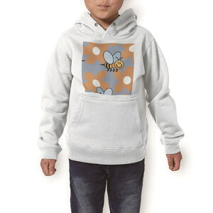 パーカー キッズ ホワイト グレー ブラック デザイン 110 130 150 parker hooded sweatshirt フーディ 白 黒 灰色 子供 男の子 女の子 004457 蜂 花 キャラクター