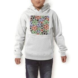 パーカー キッズ ホワイト グレー ブラック デザイン 110 130 150 parker hooded sweatshirt フーディ 白 黒 灰色 子供 男の子 女の子 008743 チップ トランプ カジノ