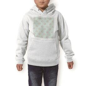 パーカー キッズ ホワイト グレー ブラック デザイン 110 130 150 parker hooded sweatshirt フーディ 白 黒 灰色 子供 男の子 女の子 011093 花 水玉 フラワー