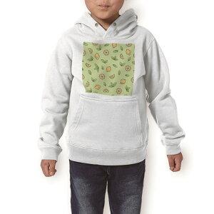 パーカー キッズ ホワイト グレー ブラック デザイン 110 130 150 parker hooded sweatshirt フーディ 白 黒 灰色 子供 男の子 女の子 012274 レモン 果物 黄色