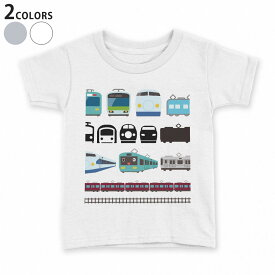 tシャツ キッズ 半袖 白地 デザイン 110 120 130 140 150 Tシャツ ティーシャツ T shirt 009587 乗り物 電車 こども