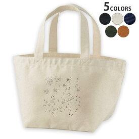 デザインランチバッグ キャンバス デイパック バッグ レディースバッグ トートバッグ ナチュラル 黒 black 012023 イラスト かわいい 星