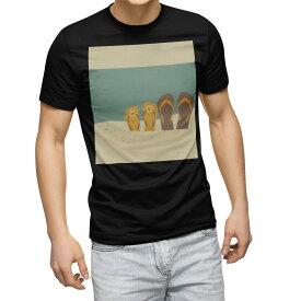 tシャツ メンズ 半袖 ブラック デザイン XS S M L XL 2XL Tシャツ ティーシャツ T shirt 黒 010425 おしゃれ ファッション サンダル