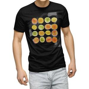 tシャツ メンズ 半袖 ブラック デザイン XS S M L XL 2XL Tシャツ ティーシャツ T shirt 黒 013341 トマト 野菜 食べ物
