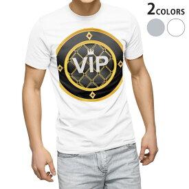 tシャツ メンズ 半袖 ホワイト グレー デザイン XS S M L XL 2XL Tシャツ ティーシャツ T shirt 002380 VIP 王冠 イラスト