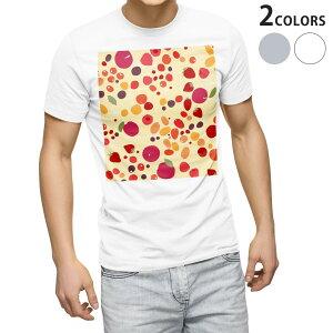 tシャツ メンズ 半袖 ホワイト グレー デザイン XS S M L XL 2XL Tシャツ ティーシャツ T shirt 004860 果物 フルーツ 模様