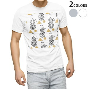 tシャツ メンズ 半袖 ホワイト グレー デザイン XS S M L XL 2XL Tシャツ ティーシャツ T shirt 010741 パイナップル 白 黒