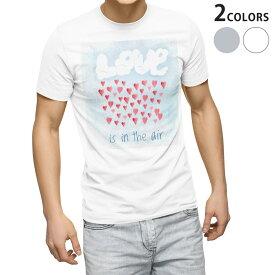 tシャツ メンズ 半袖 ホワイト グレー デザイン XS S M L XL 2XL Tシャツ ティーシャツ T shirt 013472 love 空 ハート