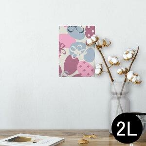 ポスター ウォールステッカー シール式ステッカー 飾り 127×178mm 2L 写真 フォト 壁 インテリア おしゃれ  剥がせる wall sticker poster 002435 いちご 花 ピンク