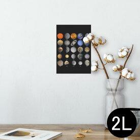 ポスター ウォールステッカー シール式ステッカー 飾り 127×178mm 2L 写真 フォト 壁 インテリア おしゃれ  剥がせる wall sticker poster 002781 宇宙 惑星