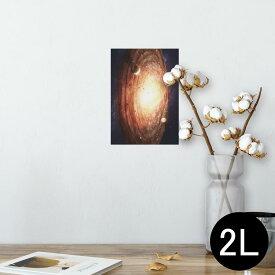 ポスター ウォールステッカー シール式ステッカー 飾り 127×178mm 2L 写真 フォト 壁 インテリア おしゃれ  剥がせる wall sticker poster 004912 宇宙 惑星 写真